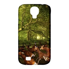 Red Deer Deer Roe Deer Antler Samsung Galaxy S4 Classic Hardshell Case (pc+silicone)