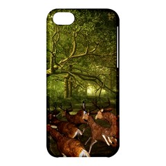Red Deer Deer Roe Deer Antler Apple Iphone 5c Hardshell Case by Nexatart