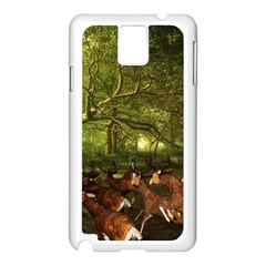 Red Deer Deer Roe Deer Antler Samsung Galaxy Note 3 N9005 Case (white) by Nexatart
