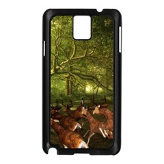 Red Deer Deer Roe Deer Antler Samsung Galaxy Note 3 N9005 Case (black) by Nexatart