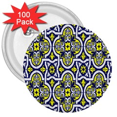 Tiles Panel Decorative Decoration 3  Buttons (100 Pack)