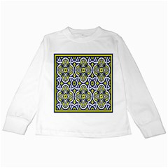 Tiles Panel Decorative Decoration Kids Long Sleeve T Shirts