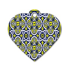 Tiles Panel Decorative Decoration Dog Tag Heart (one Side)