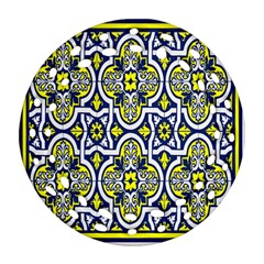 Tiles Panel Decorative Decoration Round Filigree Ornament (two Sides) by Nexatart