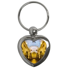 Church The Worship Quito Ecuador Key Chains (heart)  by Nexatart