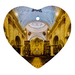 Church The Worship Quito Ecuador Heart Ornament (two Sides)