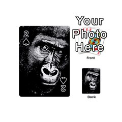 Gorilla Playing Cards 54 (mini)  by Valentinaart