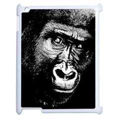 Gorilla Apple Ipad 2 Case (white) by Valentinaart