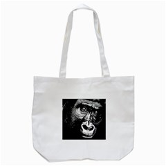 Gorilla Tote Bag (white) by Valentinaart