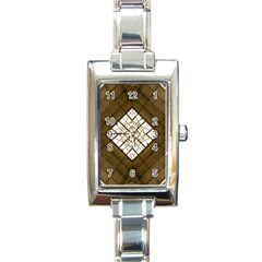 Steel Glass Roof Architecture Rectangle Italian Charm Watch