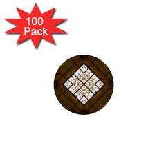 Steel Glass Roof Architecture 1  Mini Buttons (100 Pack)  by Nexatart