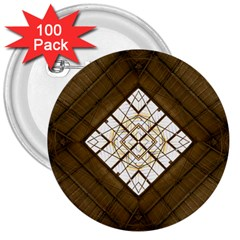 Steel Glass Roof Architecture 3  Buttons (100 Pack)  by Nexatart