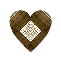 Steel Glass Roof Architecture Heart Magnet by Nexatart