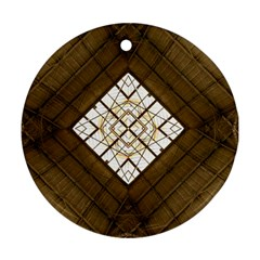 Steel Glass Roof Architecture Round Ornament (two Sides) by Nexatart