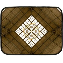 Steel Glass Roof Architecture Double Sided Fleece Blanket (mini)