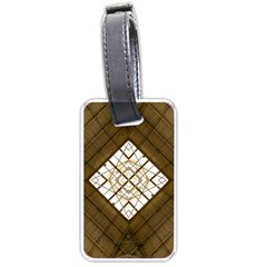 Steel Glass Roof Architecture Luggage Tags (one Side)