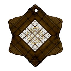 Steel Glass Roof Architecture Snowflake Ornament (two Sides) by Nexatart