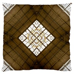 Steel Glass Roof Architecture Standard Flano Cushion Case (two Sides)