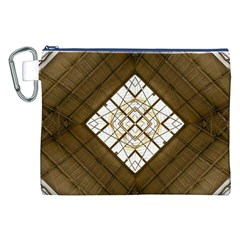 Steel Glass Roof Architecture Canvas Cosmetic Bag (xxl) by Nexatart