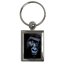 Gorilla Key Chains (rectangle)  by Valentinaart