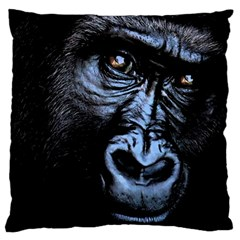 Gorilla Large Cushion Case (two Sides) by Valentinaart