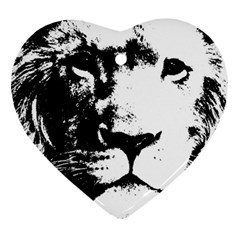 Lion  Heart Ornament (two Sides) by Valentinaart