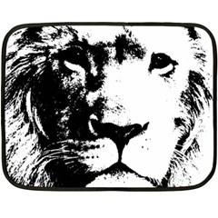 Lion  Fleece Blanket (mini) by Valentinaart