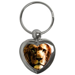 Lion  Key Chains (heart)  by Valentinaart