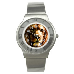 Lion  Stainless Steel Watch by Valentinaart