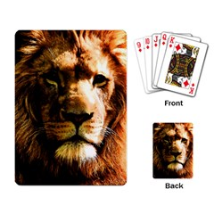 Lion  Playing Card by Valentinaart