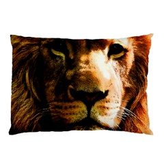 Lion  Pillow Case (two Sides) by Valentinaart