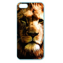 Lion  Apple Seamless Iphone 5 Case (color) by Valentinaart