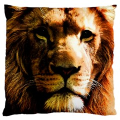 Lion  Large Flano Cushion Case (one Side) by Valentinaart