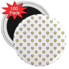 Angry Emoji Graphic Pattern 3  Magnets (100 Pack) by dflcprints
