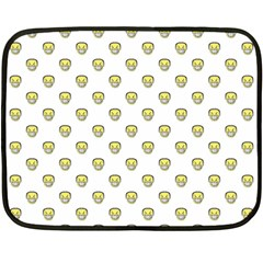 Angry Emoji Graphic Pattern Fleece Blanket (mini) by dflcprints