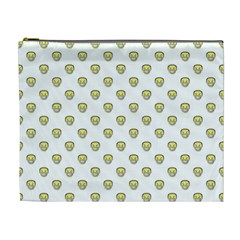 Angry Emoji Graphic Pattern Cosmetic Bag (xl) by dflcprints