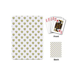 Angry Emoji Graphic Pattern Playing Cards (mini)  by dflcprints