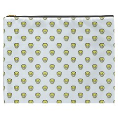 Angry Emoji Graphic Pattern Cosmetic Bag (xxxl)  by dflcprints