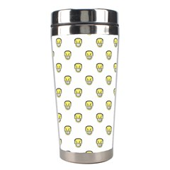 Angry Emoji Graphic Pattern Stainless Steel Travel Tumblers by dflcprints