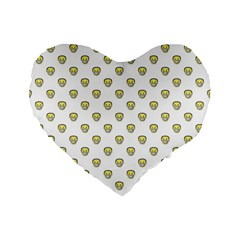 Angry Emoji Graphic Pattern Standard 16  Premium Flano Heart Shape Cushions by dflcprints