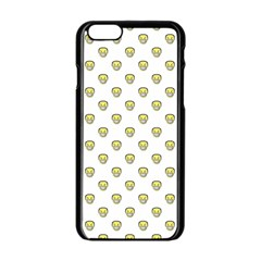 Angry Emoji Graphic Pattern Apple Iphone 6/6s Black Enamel Case by dflcprints