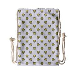 Angry Emoji Graphic Pattern Drawstring Bag (small) by dflcprints