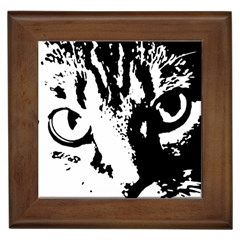 Cat Framed Tiles by Valentinaart