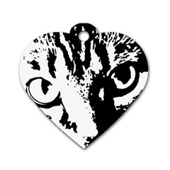 Cat Dog Tag Heart (one Side) by Valentinaart