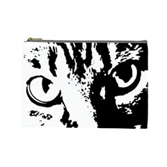 Cat Cosmetic Bag (large)  by Valentinaart