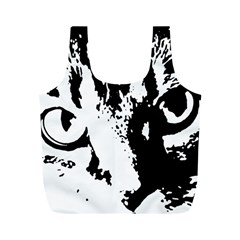 Cat Full Print Recycle Bags (m)  by Valentinaart