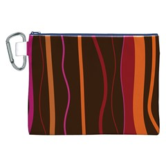 Colorful Striped Background Canvas Cosmetic Bag (xxl) by TastefulDesigns