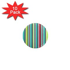Colorful Striped Background  1  Mini Magnet (10 Pack)  by TastefulDesigns