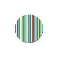 Colorful Striped Background  Golf Ball Marker (4 Pack) by TastefulDesigns