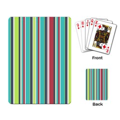 Colorful Striped Background  Playing Card by TastefulDesigns